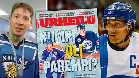 Tuoreessa Urheilulehdessä selvitetään, kumpi on kaikkien aikojen suomalaispelaaja, Jari Kurri vai Teemu Selänne. 50 asiantuntijaa vastasi.