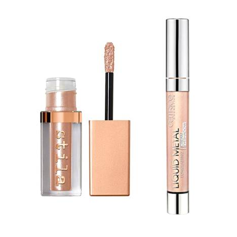 Stila Magnificent Metals Shimmer & Glow Liquid Eye Shadow 28 €, mm. Beauty Bay, Catrice Liquid Metal Longlasting Cream Eyeshadow 4,59 €, mm. K-Citymarket.