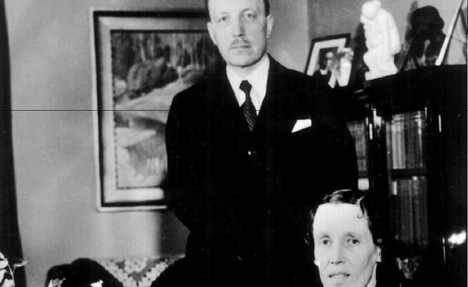 Risto ja Gerda Ryti kotonaan vuonna 1940.