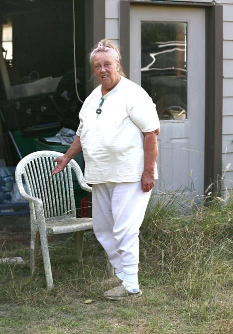 Shelley Duvall kotipihallaan Blancossa Texasissa lokakuussa. Blancossa asuu vain reilut 1800 asukasta.