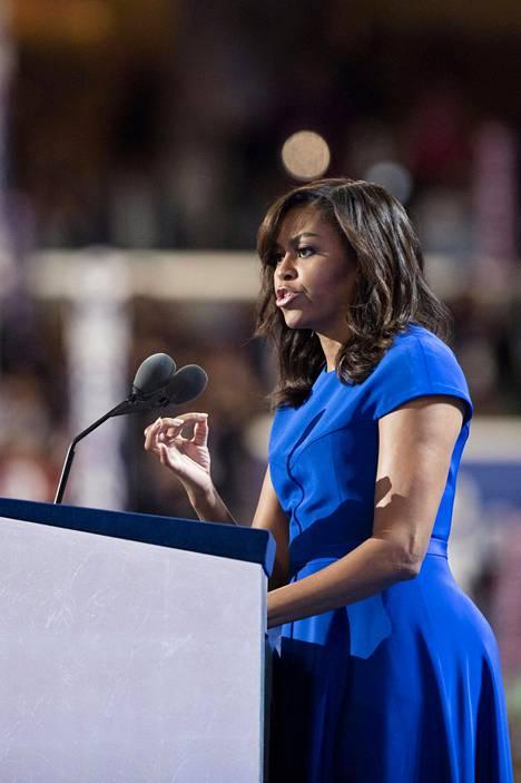 Michelle Obaman puheet ovat nousseet otsikoihin Suomessa asti.