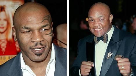 George Foreman (oikealla), on huolissaan toisen nyrkkeilylegendan, Mike Tysonin, paluusuunnitelmista.
