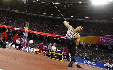 Vetteriä on vaikea pysäyttää, kun keihään EM-mitaleista heitetään elokuussa Berliinin olympiastadionilla.
