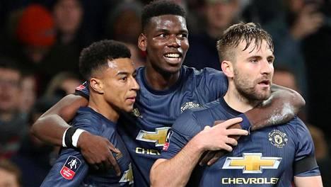 Jesse Lingard, Paul Pogba ja Luke Shaw pääsivät juhlimaan voittoa FA Cupissa.