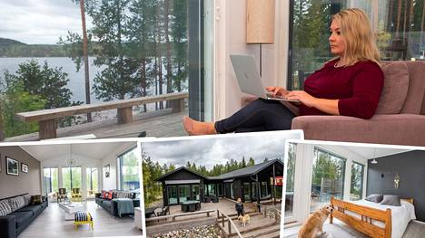 Taru Jussila tekee etätöitä mökiltä – Helsingissä hän asuu kaksiossa, mutta Villa Tarula Keuruulla on unelmien täyttymys