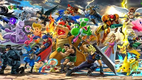 Super Smash Bros. Ultimate on todella suosittu tappelupeli. Pelissä eri pelien suosikkihahmot ottavat mittaa toisistaan.
