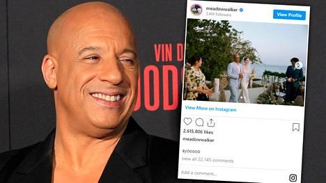 Vin Diesel on Paul Walkerin Meadow-tyttären kummisetä.