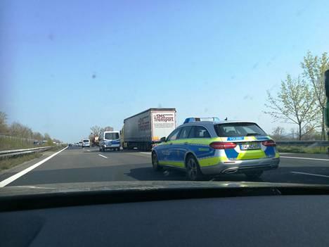Liikennettä Saksassa.