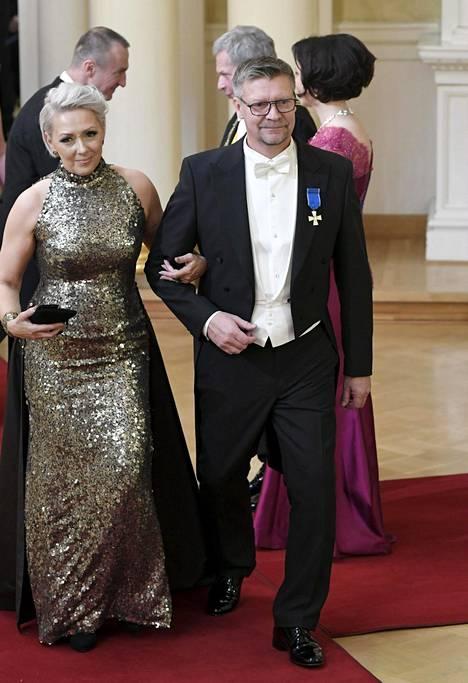 Sari ja Jukka Jalonen saapuivat Linnaan jo neljättä kertaa.