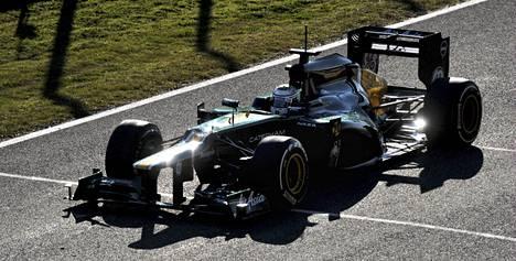 Heikki Kovalainen Caterhamin ratissa 2012.