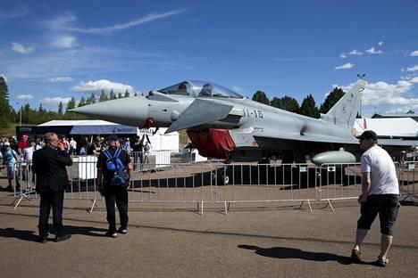 Eurofighter Typhooneja oli paikalla useita koneita.