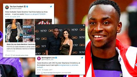Jalkapalloilija Saido Berahino on kohun keskellä Britanniassa.