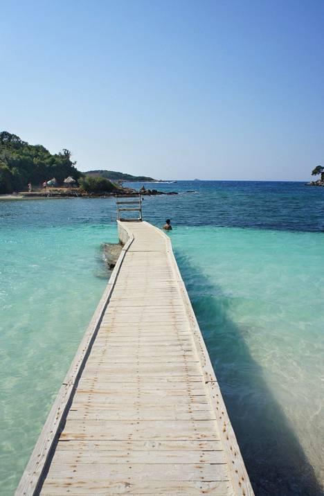 Ksamilin kylä Albaniassa on rauhallinen rantakohde.