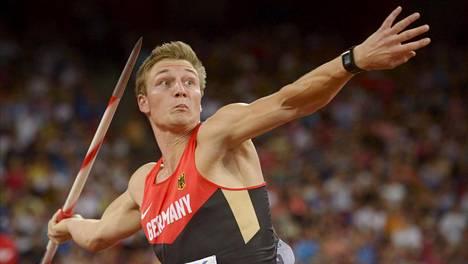 Thomas Röhler sijoittui viime kesänä Pekingin MM-kisoissa Tero Pitkämäen perässä neljänneksi. Hän on tällä kaudella suosikki sekä EM- että olympiakullan ottajaksi.