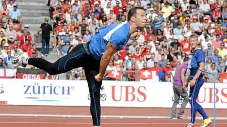 Tero Pitkämäki heitti Zürichin EM-kisoissa pronssille. Nyt samalle areenalla ratkeaa Timanttiliigan keihäskisa.