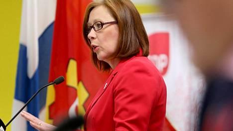 Sirpa Paatero SDP:n puoluevaltuuston kokouksessa 16. marraskuuta 2019.