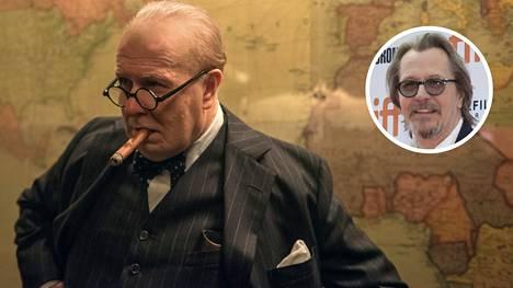 Brittinäyttelijä Gary Oldman palkittiin Oscarilla roolistaan Britannian pääministeri Winston Churchillinä.