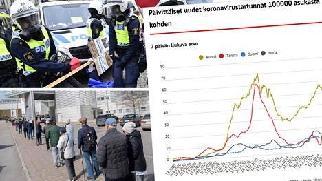 Ruotsissa koronatartunnat ovat yhä nousussa ja muuhun Eurooppaan verrattuna uusien tartuntojen ilmaantuvuus on huomattavasti suurempi.
