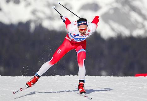 Hans Christer Holund ehti jo lopettaa uransa. Seefeldissä hän räjäytti pankin 50 kilometrillä.