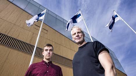 Roy Rissanen ja hänen poikansa Alexander Rissanen muuttivat Kanadan Halifaxista Helsinkiin noin viikko sitten.
