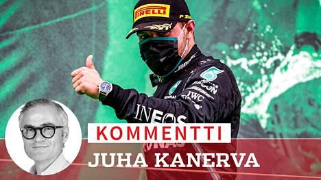 Valtteri Bottas ajoi toiseksi Portugalin osakilpailussa Portimaossa 25. lokakuuta.