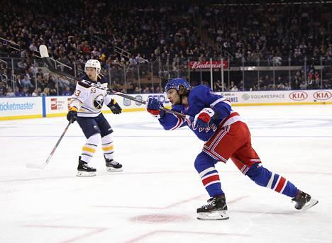 Artemi Panarin on New York Rangersin ylivoimapelin primus motor.