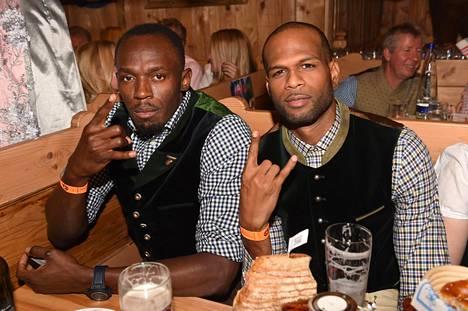 Usain Bolt ja Germaine Mason kuvattiin yhdessä Oktoberfesteillä syyskuussa 2016.