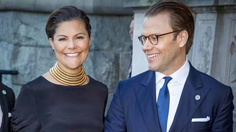 Ruotsin kruununprinsessa Victoria ja prinssi Daniel Tukholmassa vuonna 2016.