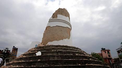 Dharaharan tornista ei jäänyt paljoa jäljelle.