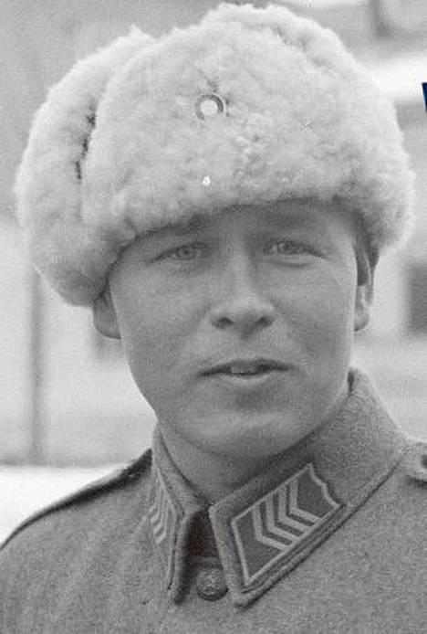 Einar Schadewitz kuvattuna jatkosodan aikana.