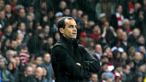 Wiganin manageri Roberto Mancini joutui toteamaan joukkueensa pudonneen.