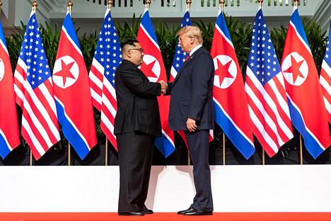 Kim ja Trump tapasivat 12. kesäkuuta.
