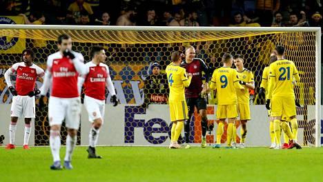 Arsenal sai kylmää kyytiä Valko-Venäjällä