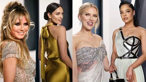 Muun muassa Heidi Klum, Eiza Gonzáles, Scarlett Johansson ja Tessa Thompson saapuivat Vanity Fairin jatkoille.