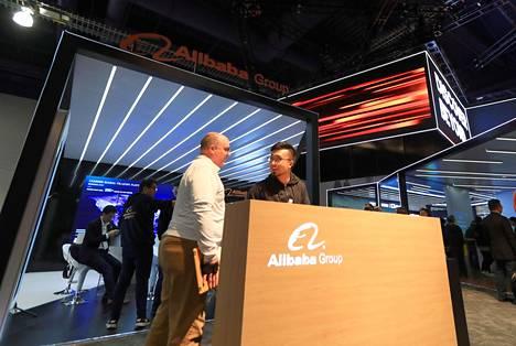 Kiinalainen Alibaba oli näkyvästi esillä mm. Las Vegasin kuluttajaelektroniikkamessuilla.