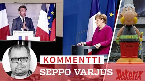 Ranskan presidentti Macron haluaa tulla verratuksi Asterixiin. Hän toivoo, että Saksan liittokansleri Merkel olisi hänen Obelixinsa.