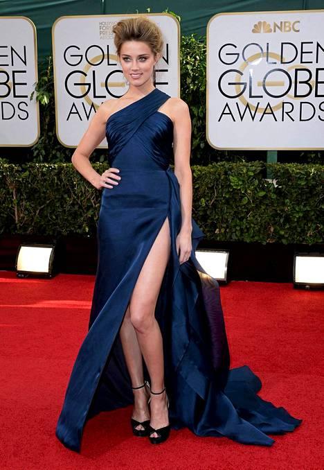 Amber Heard Golden Globe -gaalassa.