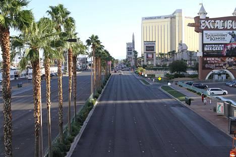Tyhjä Las Vegas Boulevard.