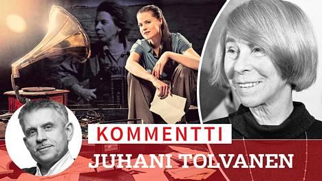 Näyttelijä ja laulaja Emma Klingeberg on koostanut Svenska Teaterniin esityksen Tove Janssonin (kuva oik.) laulunteksteistä.