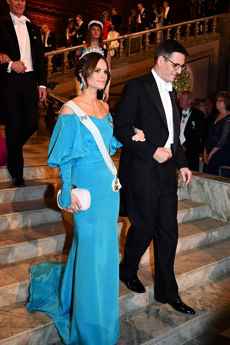 Prinsessa Sofia ja astronomi Didier Queloz.