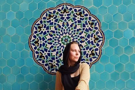 Salla kuvattuna moskeijassa Yazdin kaupungissa.