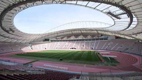 """The Khalifa International Stadium"" Dohassa on yksi Qatarin MM-kisojen pelipaikoista."