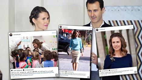 Bashar al-Assadin vaimo Asma Assad on suosittu Instagramissa.