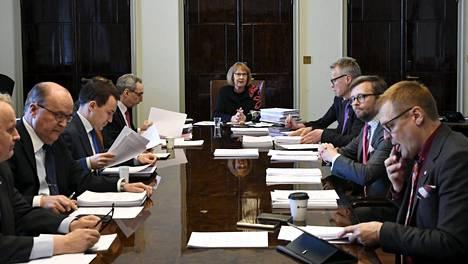 Kuva otettu perustuslakivaliokunnan kokouksesta helmikuulta.