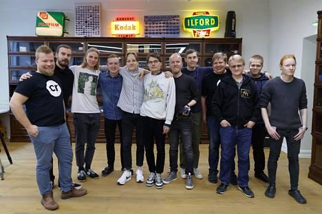 Kameratorin väkeä yhteiskuvassa. Vasemmalta Juho Leppänen, Jonas Rantanen, Joel Kallio, Antti Heikkinen, Kasperi Heikkilä, Sasa Mustonen, Jussi Lehmus, Nuno Rissanen, Mika Parviainen, Jukka Kelotie, Ari Yli-Hukkala ja Toni Mattila.