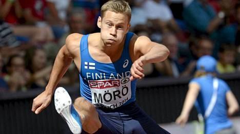 Oskari Mörö juoksi kovassa seurassa EM-kisojen välierässä.