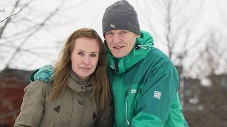 Heidi ja Toni Nieminen kuvattuna vuonna 2016.