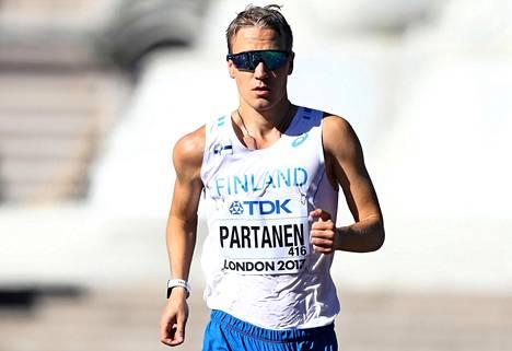 Aku Partanen kilpaili kesällä 2017 Lontoon MM-kisoissa. Tänä syksynä tähtäimessä on menestyminen Qatarin MM-kisoissa.