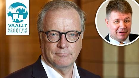 """Matti Röngän vaalipäivän yksi perusrutiineista koskee """"rakasta vierustoveria"""" Sami Borgia."""