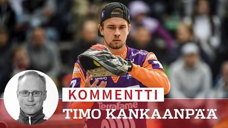 Ville Väliahon edustama Sotkamon Jymy lähtee pesäpallon finaalisarjaan haastajana.
